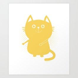 Floss Dance Move Cat Art Print