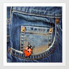 Lady Bug in My Pocket Art Print