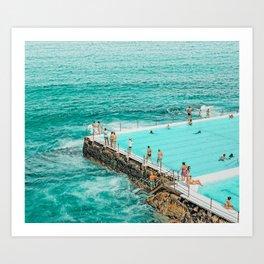 Pool Party #digitalart #photography Art Print