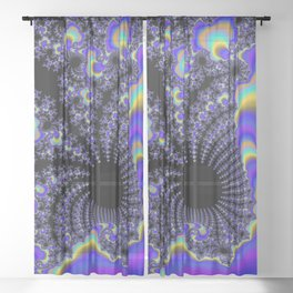 Fascinating Fractal Sheer Curtain