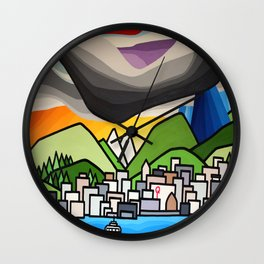 North Shore Rain Wall Clock