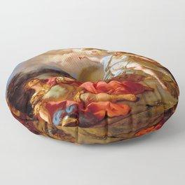 """Jacques-Louis David """"Combat between Minerva and Mars"""" Floor Pillow"""