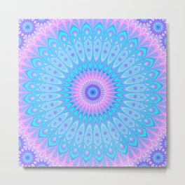 Winter Star Mandala Metal Print