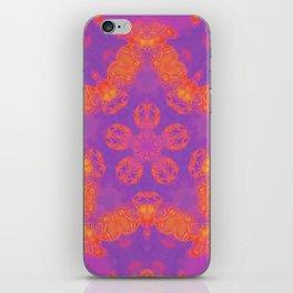 Orange, Pink, and Purple Kaleidoscope iPhone Skin