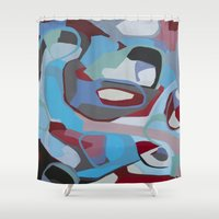 coke Shower Curtains featuring Cherry Coke by MadisonBlochArt