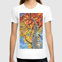 Mosaic tree T-shirt