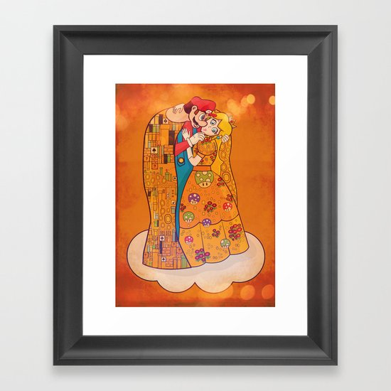 Just Before The Kiss Framed Art Print