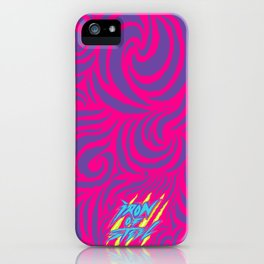 IRON of STEEL Pink on Purple  iPhone Case