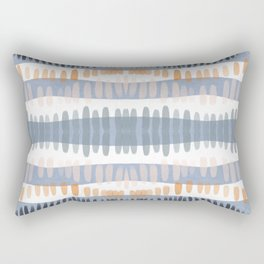 Tribal Watercolor Stripes Rectangular Pillow