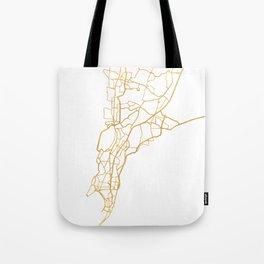 MUMBAI INDIA CITY STREET MAP ART Tote Bag