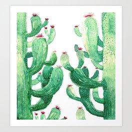 twin cactus Art Print