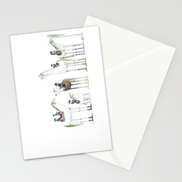 Numero 1-2-3-4-5-6 -Cosi che cavalcano Cose - Things that ride Things- SERIE ARGENTO - SILVER SERIES Stationery Cards