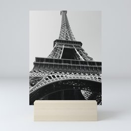 Eiffel Tower // Looking up at the World's Most Famous Monument in Paris France Classic Photograph Mini Art Print