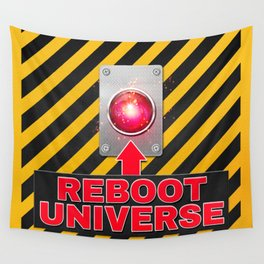 Reboot Universe Button Wall Tapestry
