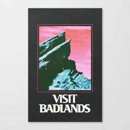 BADLANDS POSTER // HALSEY Canvas Print