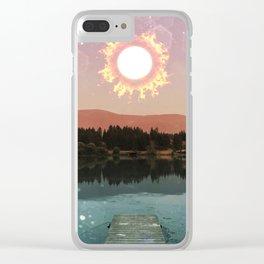 Abundance and Light - solar eclipse sun Clear iPhone Case