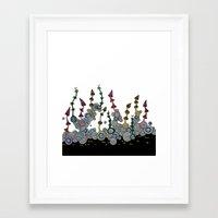 mushroom Framed Art Prints featuring mushroom by SENGA