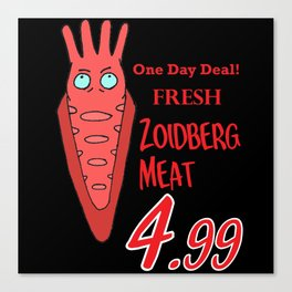 Zoidberg meat for sale Canvas Print
