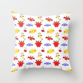 Fruit Bats Pattern Throw Pillow