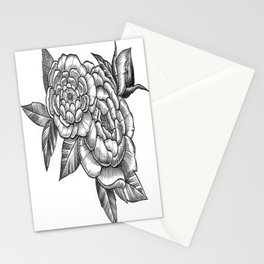 Peony Flowers Stationery Cards