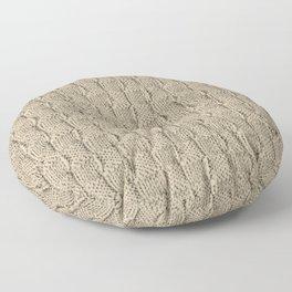 Sepia Knit Textured Pattern Floor Pillow