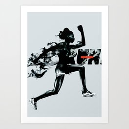 Forward - Run Art Print