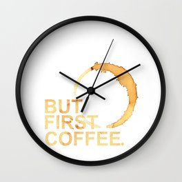 Inspirational Print Wall Decor Typography Quote Coffee Print Art Wall Clock