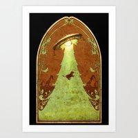 UFO Christmas Art Print