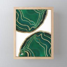 Emerald Agate Gold Glam #1 #gem #decor #art #society6 Framed Mini Art Print