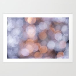 Blurred Soft Lights Art Print