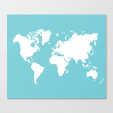 map blue Canvas Print
