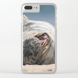 Yawning Babe Clear iPhone Case