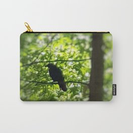 Black Bird Summer Green Tree Carry-All Pouch