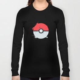 Pokeball Splatter Long Sleeve T-shirt