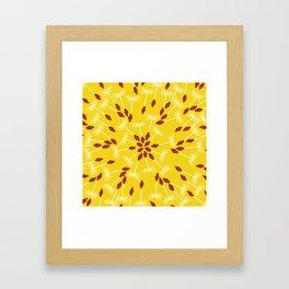 Dandelion Seed Pattern Framed Art Print