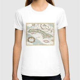 Vintage Map of Cuba and Jamaica (1763) T-shirt