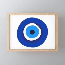 evil eye symbol Framed Mini Art Print