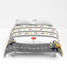 School Bus Fun Comforters
