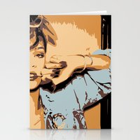 rihanna Stationery Cards featuring Rihanna  by GOLDY