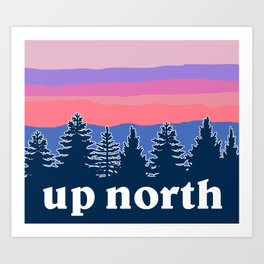 up north, pink hues Art Print