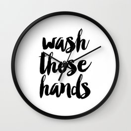 Wash those hands Toilet sign Bathroom rules INSTANT DOWNLOAD Kids wall art Loo sign Washroom sign Ba Wall Clock
