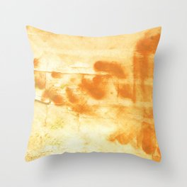 Blond abstract watercolor Throw Pillow