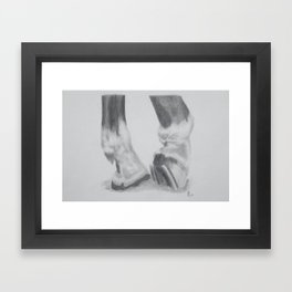 Shoes and Hooves Framed Art Print