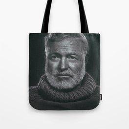 Earnest Ernest Hemingway Tote Bag
