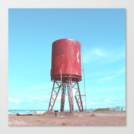Old water tank Canvas Print