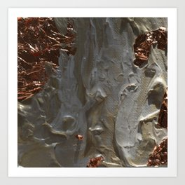 Copper and Pearls Art Print