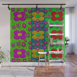 Big flower power to the people Wall Mural