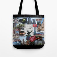 detroit Tote Bags featuring Detroit MI by Andrew Sliwinski