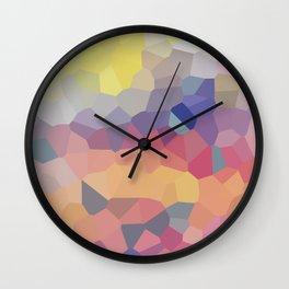 Pastel Geometric Moon Rise Wall Clock