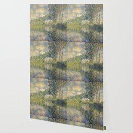 """Claude Monet """"Poplars on the Epte"""" Wallpaper"""